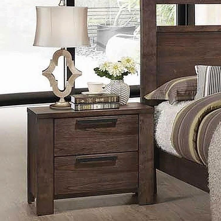 Caila transitional 2 drawer nightstand by coaster